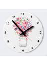 "Часы ""Цветы в банке"""