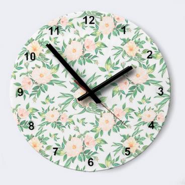 """Часы """"Винтажные цветы"""""""