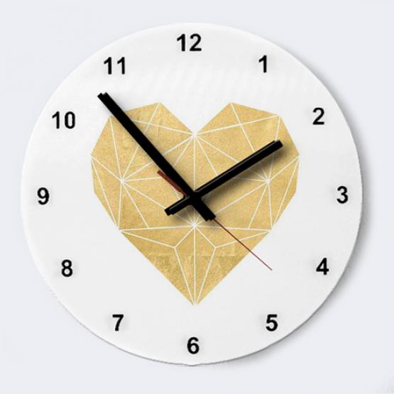 """Часы """"Золотое сердце"""""""