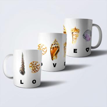 """Дизайнерская кружка """"LOVE"""""""