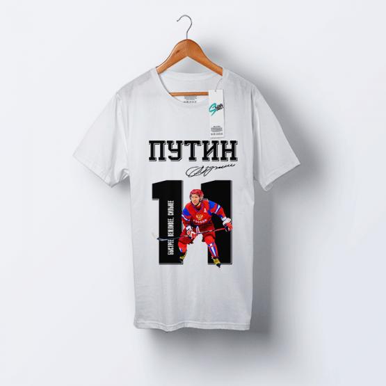 """Футболка с Путиным """"Одиннадцать"""""""