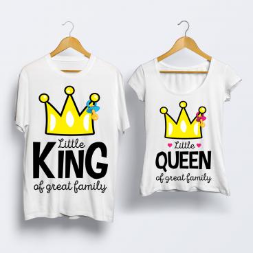 "Футболка ""Little King & Little Queen"""