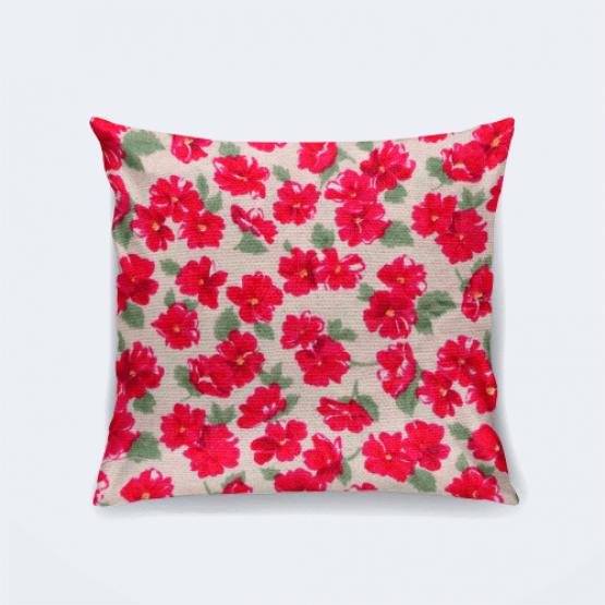 """Подушка """"Красные цветы"""""""