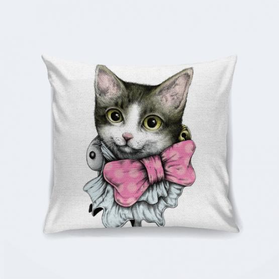 """Подушка """"Котёнок с бантиком"""""""