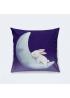 """Подушка """"Зайка, спящий на луне"""""""