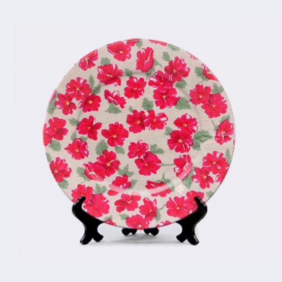 "Тарелка ""Красные цветы"""